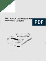 Manual Balanza