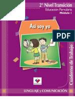 Cuaderno de Trabajo. Lenguaje y Comunicación. Educación Parvularia. Modulo I