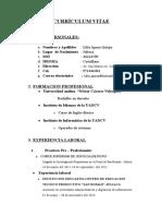 Currículum Vitae Bachiller