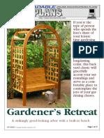 Bench - Arbored #2 - Gardener's Retreat