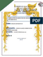 Resolucion de Ejercicios de Analisis Matematico II
