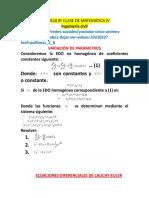 8ª Clase de Matemática IV