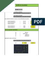 Excel de Diseño de Columnas