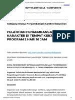 Silabus Pengembangan Karakter Karyawan _ Pt Djajendra Motivasi Unggul - Corporate Motivator
