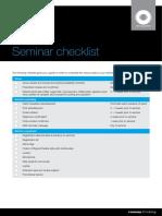 Seminar Checklist