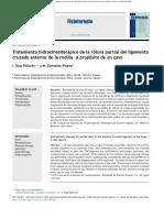Tratamiento Hidrocinesiterápico de La Rotura Parcial Del Ligamento Cruzado Anterior de La Rodilla