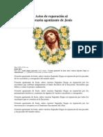Actos de Reparacion al Corazon agonizantedeJesus