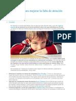 7 Consejos Para Mejorar La Falta de Atención en Clase