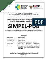 Bunga Ekapeny - Optimalisasi Pelayanan Pembersihan Lingkungan Dengan Penyusunan Perka BNPB Tentang Simpel-PDB