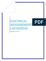 Electrical Measurements Lab