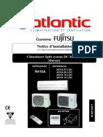 Atlantic Fujitsu Notice d Installation