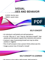 The Individual Processes and Behavior