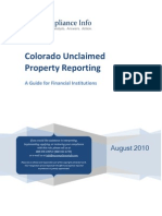 Colorado Unclaimed Property Reporting Guide 2010