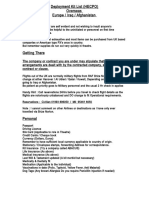 Deployment Kit List
