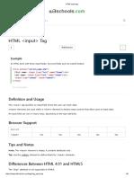 HTML Input Tag