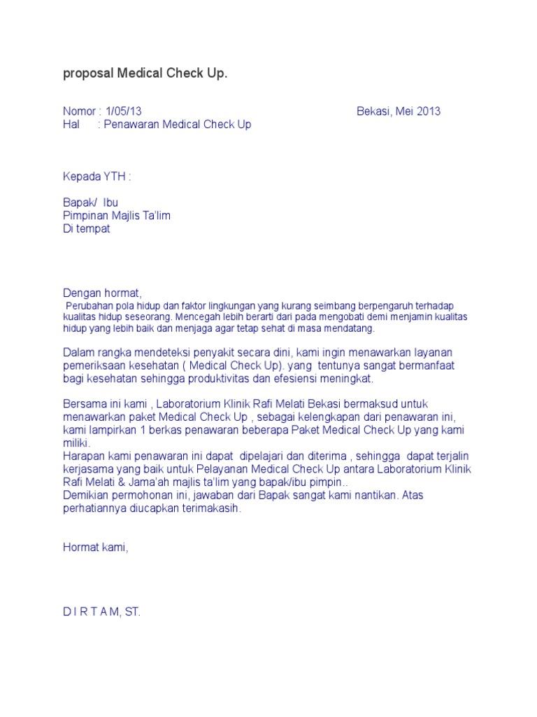 Proposal Medical Check Updocx Up Wanita Sehat Lengkap