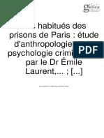 Les Habitués des prisons de Paris
