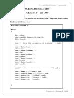 Journal Program(C++)