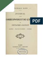 Reginald Kann Journal d'Un Correspondant de Guerre en Extrême-Orient