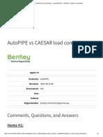 AutoPIPE vs CAESAR Load Combinations