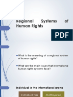 Regional Systems of Human Rigths.2017