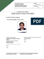 (F-1!05!011-01) Portada Del Diario de Campo