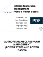 1- Authoritarian Classroom Management