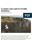 9 Habits That Lead to Terrible Decisions