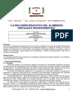 La inclusión educativa del alumnado-ventajas e incovenientes
