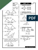 Congruencia de Triángulos - Formulas