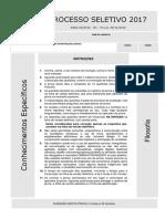 Prova 2ª Fase UFPR 2016.2017 - Filosofia