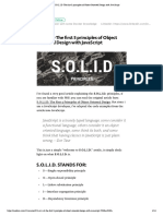S.O.L.I.D Patterns in JavaScript