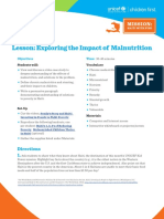 6-8 Lesson- Exploring the Impact of Malnutrition