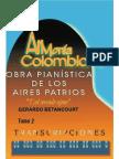 ARMONIA COLOMBIANA TRANSCRIPCIONES. Obras Pianisticas de los Aires Patrios. Tomo 2.  Gerardo Betancourt.