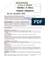 Bollettino Difesa Integrata Obbligatoria Provincia Ferrara 25nov15