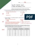 Chem452 Quiz 2-Key