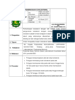 8.1.1.1 SOP Pemeriksaan Cholesterol