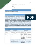 FCC - Planificación Unidad 1 - 4to Grado