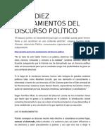 Los Diez Mandamientos Del Discurso Político