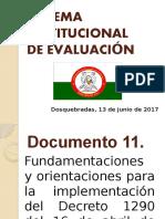 Fundamentaciones y Orientaciones Para La Implementación Del Decreto 1290 IEANC