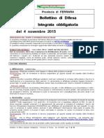 Bollettino Difesa Integrata Obbligatoria Provincia Ferrara 4nov15