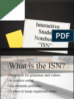 Interactive Student Notebooks/Spanish