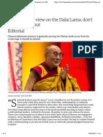 The Guardian view on the Dalai Lama