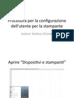 3) Procedura Per La Configurazione Dell'Utente Per La Stampante