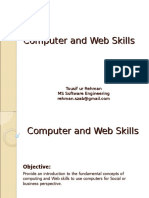 Computer and Web Skills - Lecture1