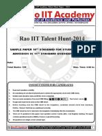 RaoIIT Std 10th Sample Paper Pcm