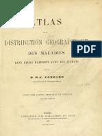 Atlas de la distribution géographique de las maladies dans leurs repports avec les climats-[Tomo 1]
