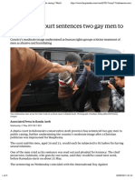 Indonesian court sentences two gay men to public caning | World news | The Guardian