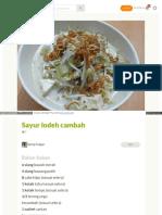 Cookpad Com Id Resep 3033007 Sayur Lodeh Cambah