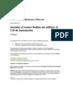 Instalar El Router Belkin Sin Utilizar El CD de Instalación N750 Wireless DB Router F9K1110
